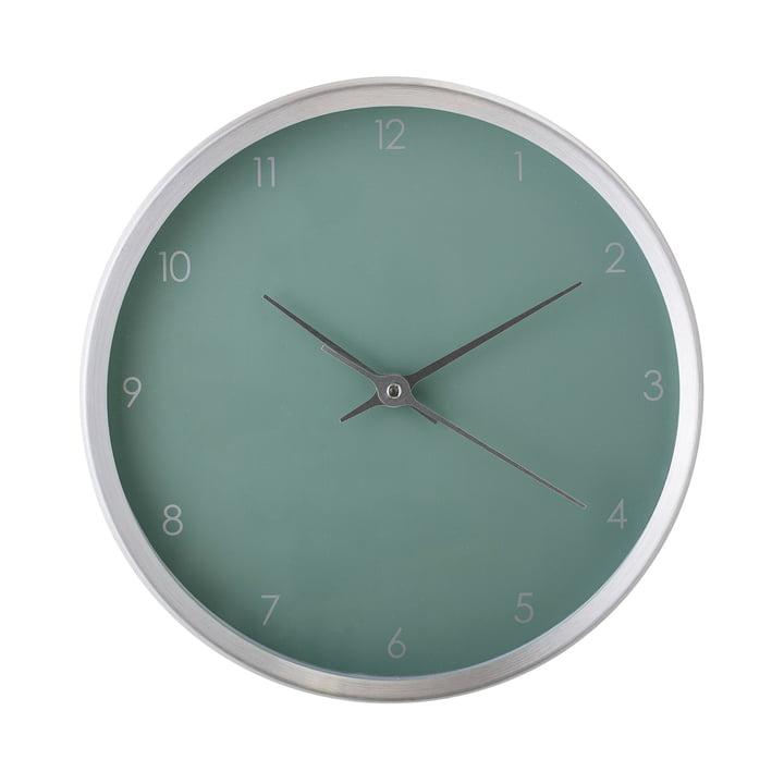 Horloge murale Ø 25 cm de Bloomingville - argent / vert