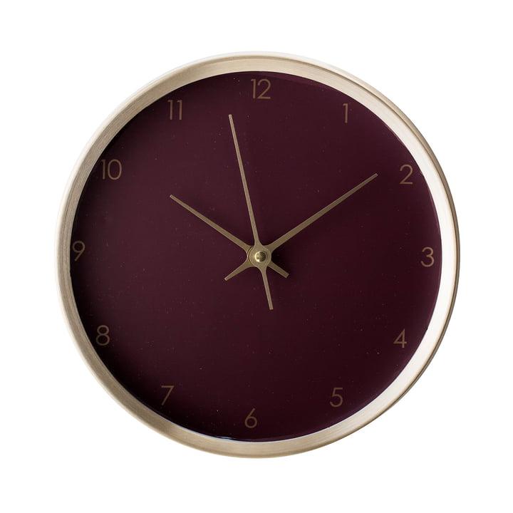 Horloge murale Ø 25 cm de Bloomingville - or / bordeaux