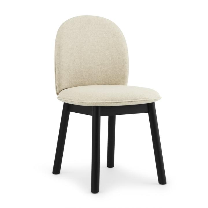 Ace Chair par Normann Copenhagen en chêne noir / beige (Main Line Flax Upminster MLF 20)