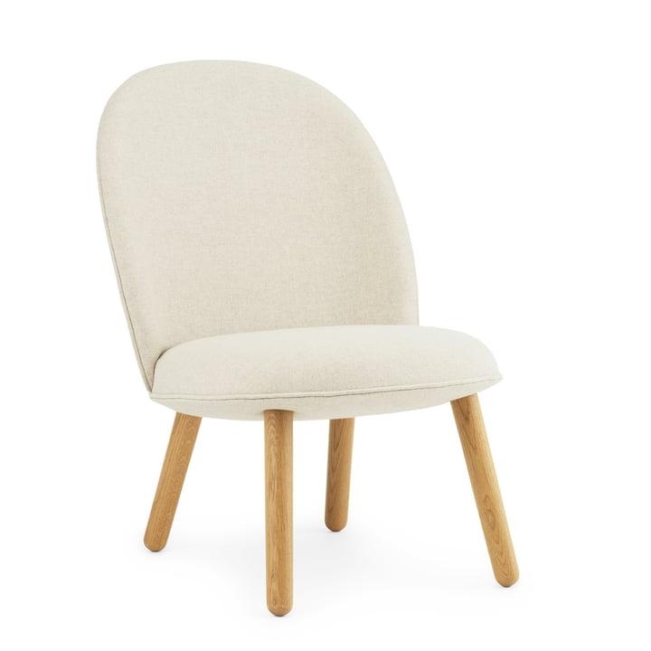 Ace Lounge Chair par Normann Copenhagen ien chêne / beige (Main Line Flax Upminster MLF 20)