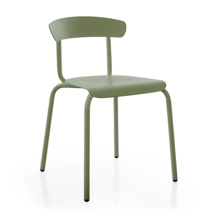 Chaise d'extérieur Alu Mito en vert pâle par Conmoto
