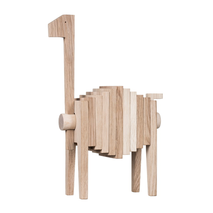 Figurine en bois polychrome de Moebe en chêne