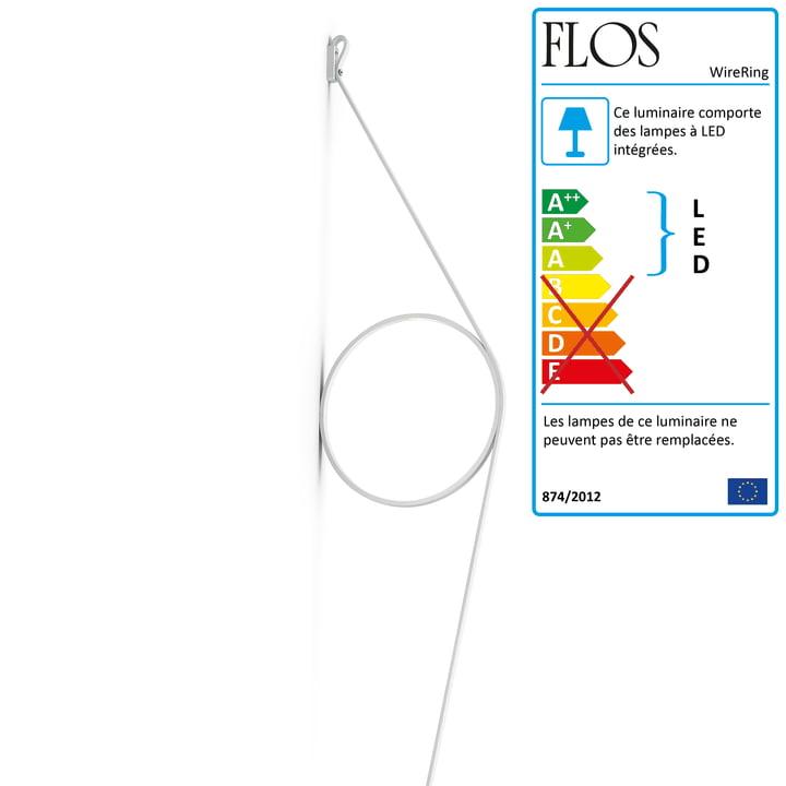 Applique WireRing de Flos en blanc