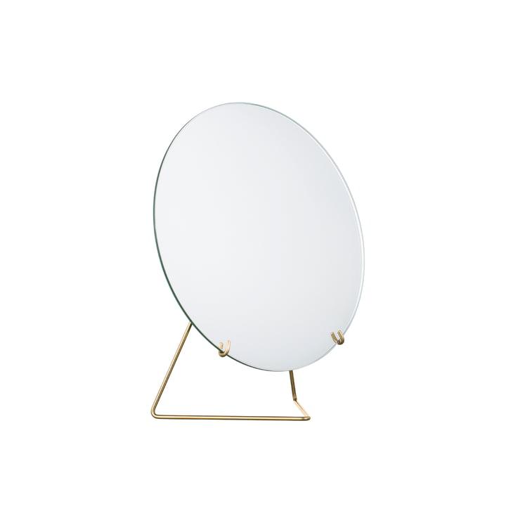 miroir de table Ø 20 cm de Moebe en laiton