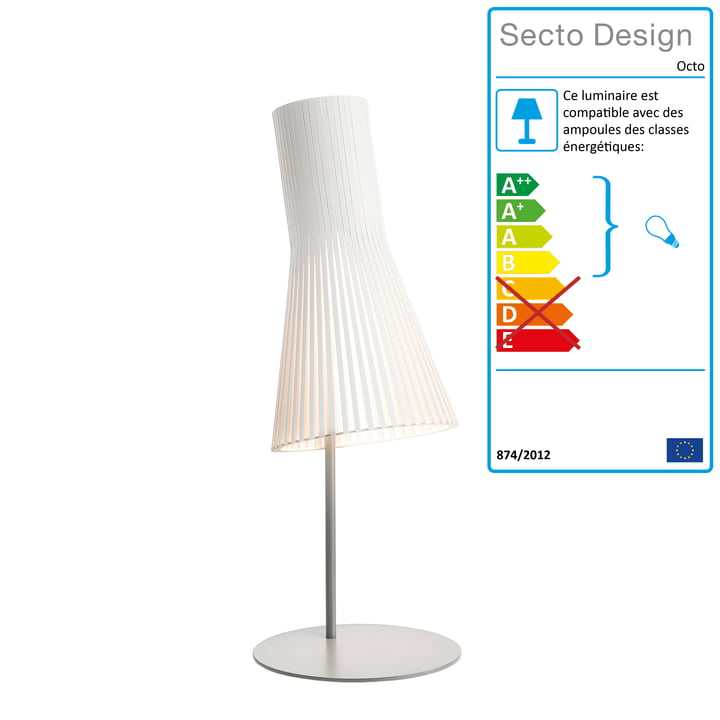 Lampe de table Secto 4220 de Secto en blanc