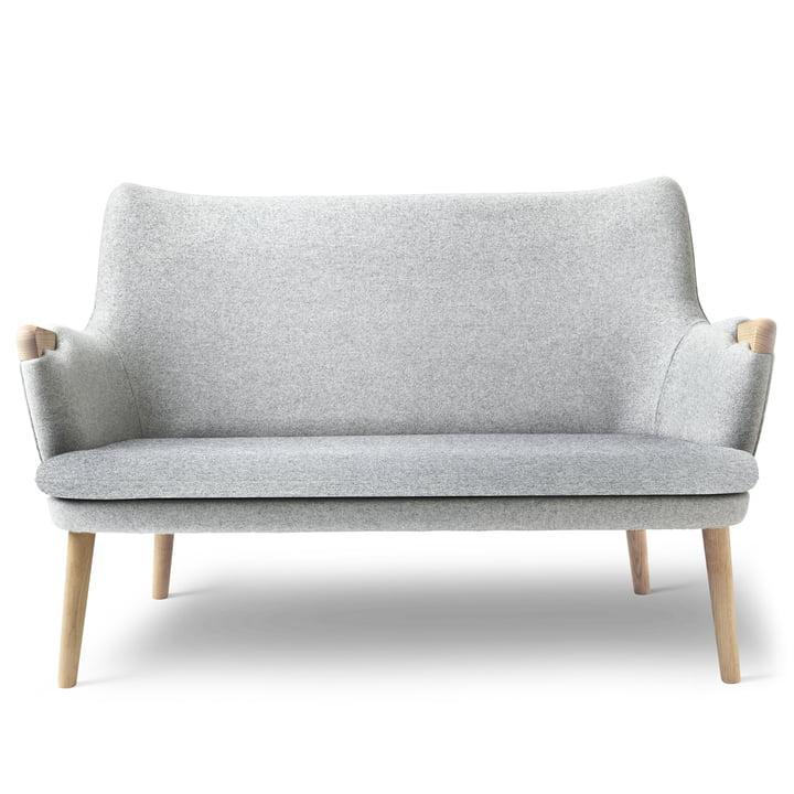 Canapé CH72 de Carl Hansen en chêne huilé / gris (Hallingdal 116)