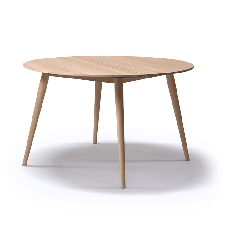 Playdinner table à manger ronde Ø 120 cm à 220 cm de bruunmunch en chêne huilé naturel