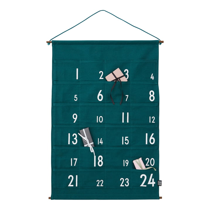 Calendrier de l'Avent 24 jours par Design Letters en vert