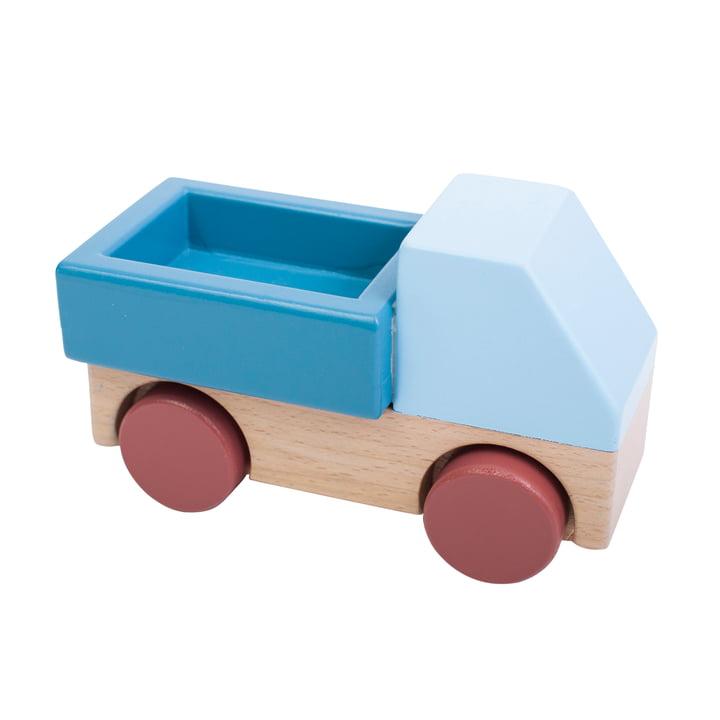 Camion en bois de Sebra in blue