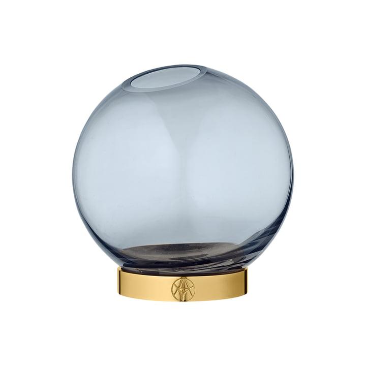 Globe Vase mini, Ø 10 x H 10 cm en marine / or par AYTM
