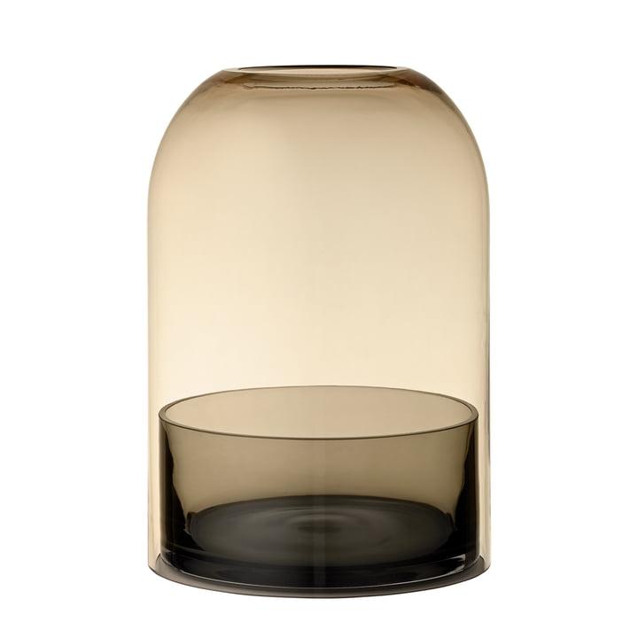 Lanterne Tota, Ø 16,2 x H 23 cm, noir / ambre de AYTM