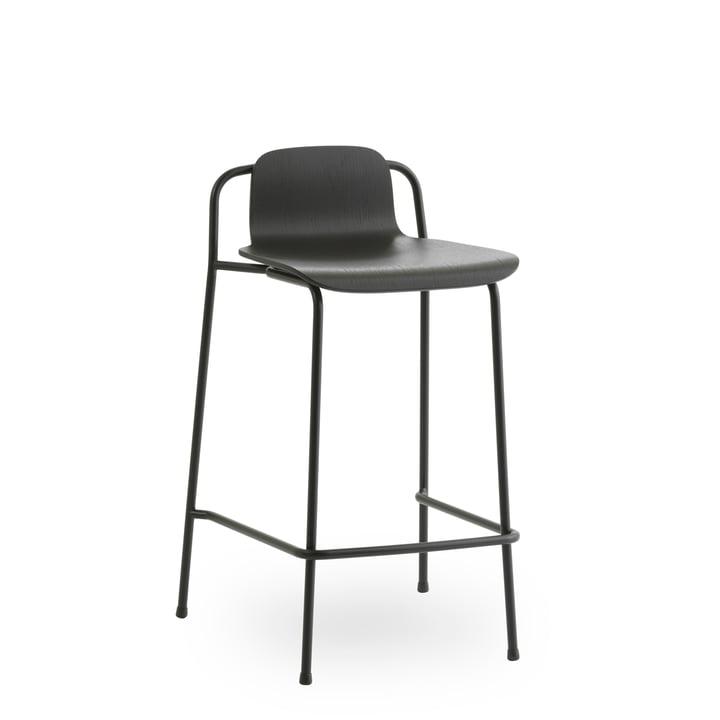 Tabouret de bar Studio 65 cm de Normann Copenhagen en noir / noir