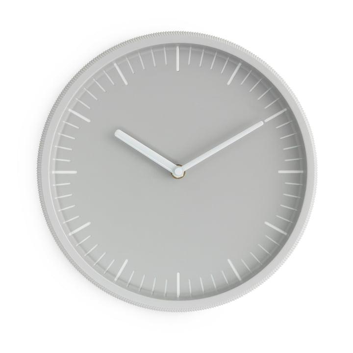 Horloge murale jour Ø 28 cm de Normann Copenhagen en gris clair