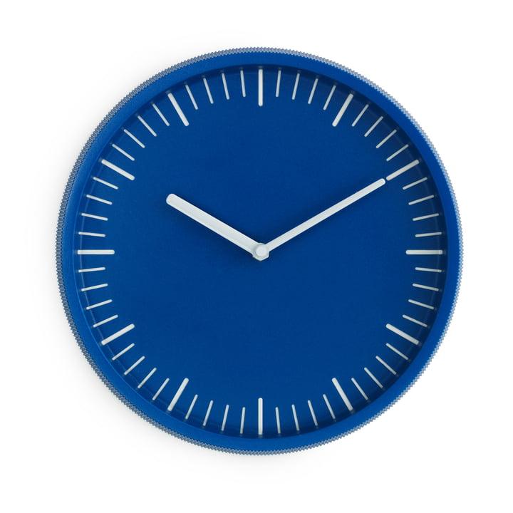 Horloge murale jour Ø 28 cm de Normann Copenhagen en bleu