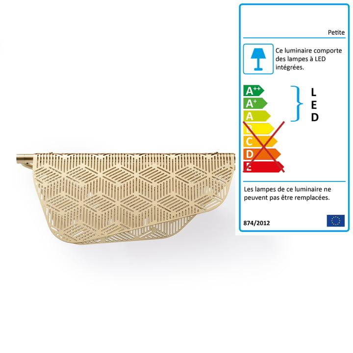 Applique Mediterranea LED Petite Friture en laiton brossé