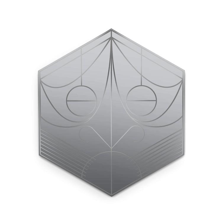 Masque miroir de Petite Friture, hexagone / plomb