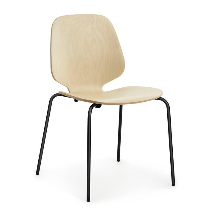 Ma chaise par Normann Copenhagen en acier noir / bouleau