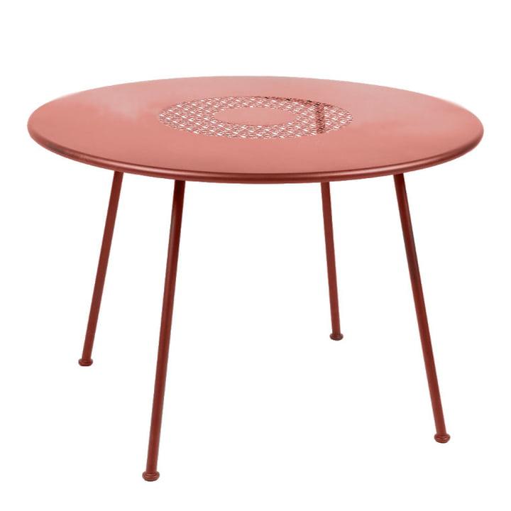 Table Lorette Ø 110 cm par Fermob en rouge ocre