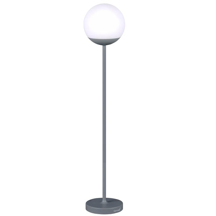 MOOON ! Lampadaire LED Fermob alimenté par batterie, gris orage, gris orage
