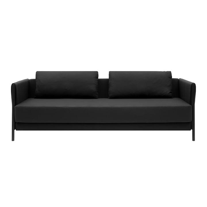 Madison Canapé-lit de Softline en noir / feutre mélangé anthracite (610)
