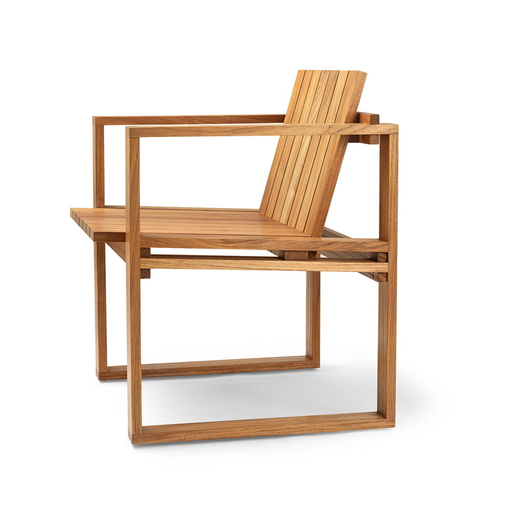 Chaise de jardin BK10 de Carl Hansen huilée dans du teck