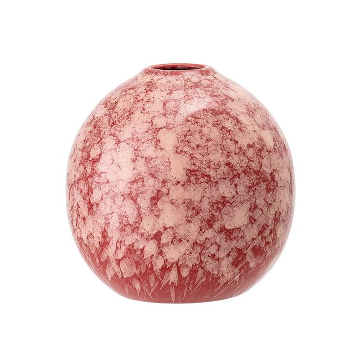 Vase en grès Ø 12 x H 12 cm de Bloomingville en rose