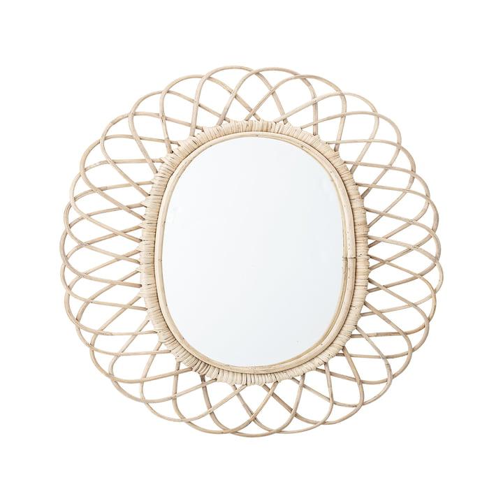 Miroir tressé par Bloomingville, L 49 x H 53 cm