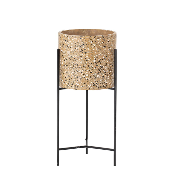 Pot avec cadre de Bloomingville, Ø 23 x H 50 cm en béton / noir