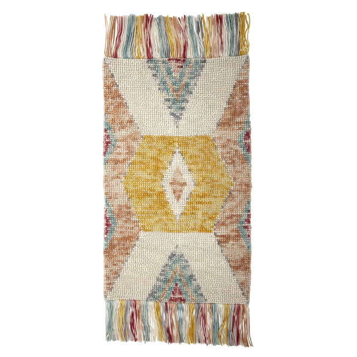 Tapis L 150 x L 90 cm de Bloomingville en multicolore