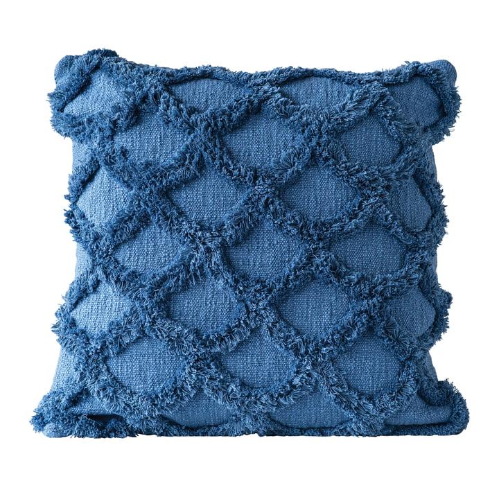 Coussin de réunion de Bloomingville, L 45 x l 45 cm en bleu