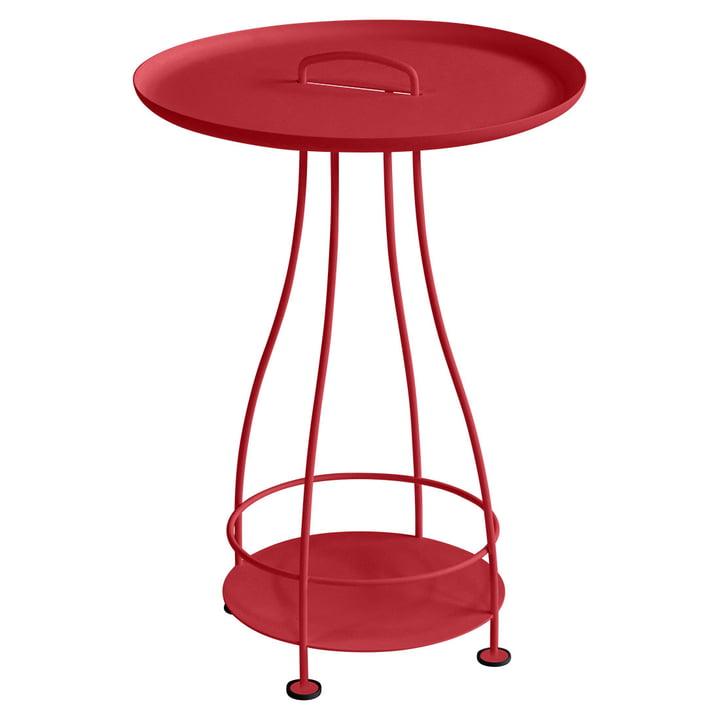 Table d'appoint Happy Hours par Fermob en rouge coquelicot