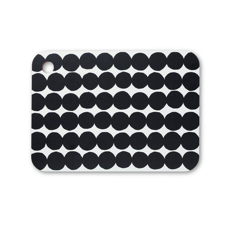 Planche à découper Räsymatto de Marimekko en noir / blanc