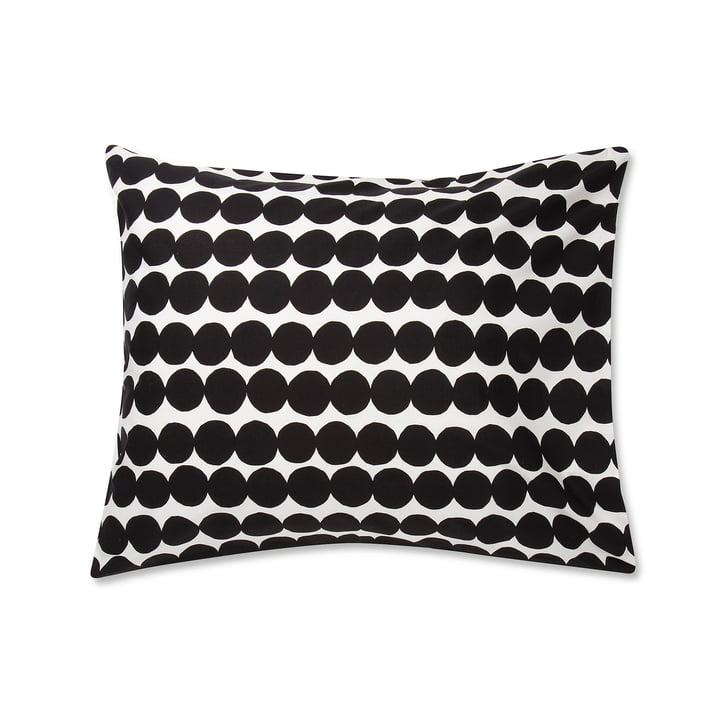 Taie d'oreiller Räsymatto de Marimekko, 50 x 60 cm en noir / blanc
