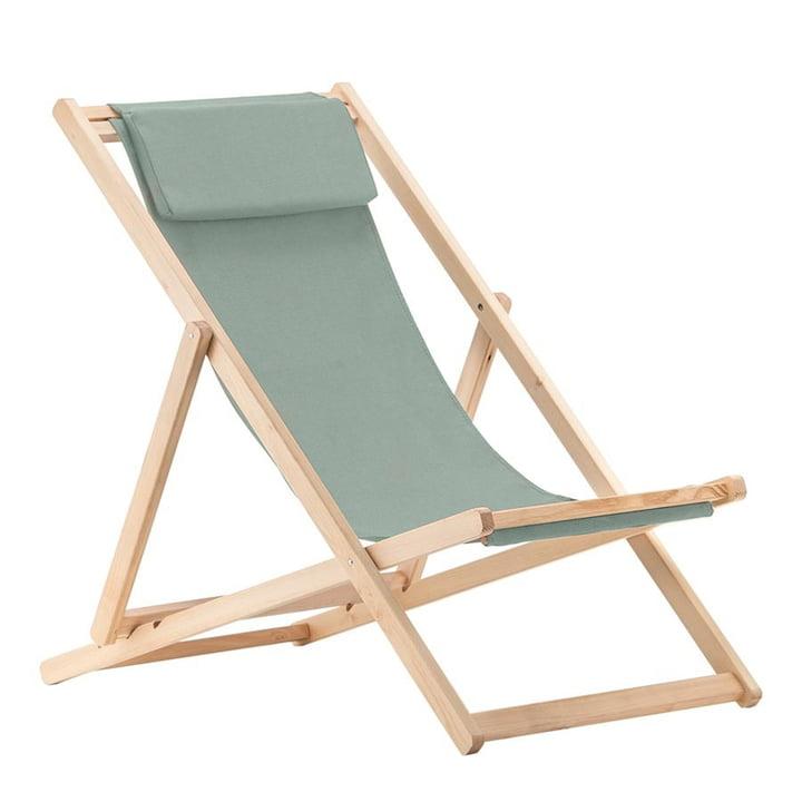Chaise longue relax, Robinia en sauge de Fiam