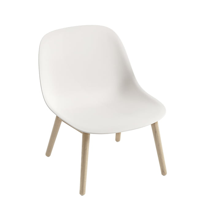Fiber Lounge Chair Wood Base en chêne / blanc de Muuto