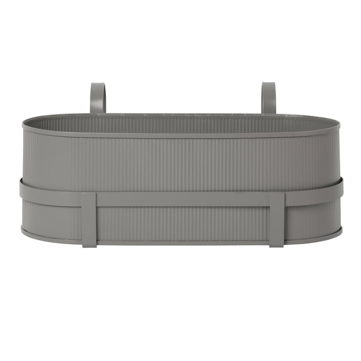 Bau Balcony Box par Ferm Living en warm grey