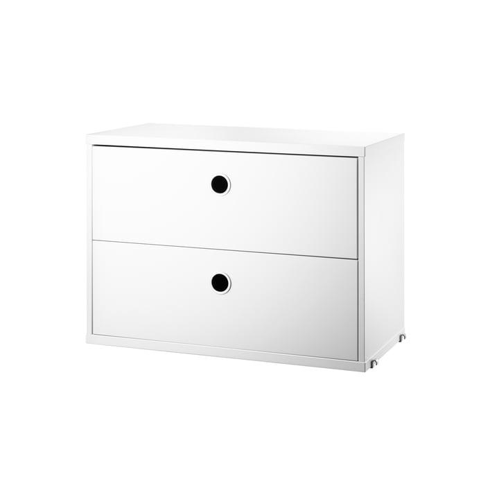 Module d'armoire avec tiroirs 58 x 30 cm de String en blanc