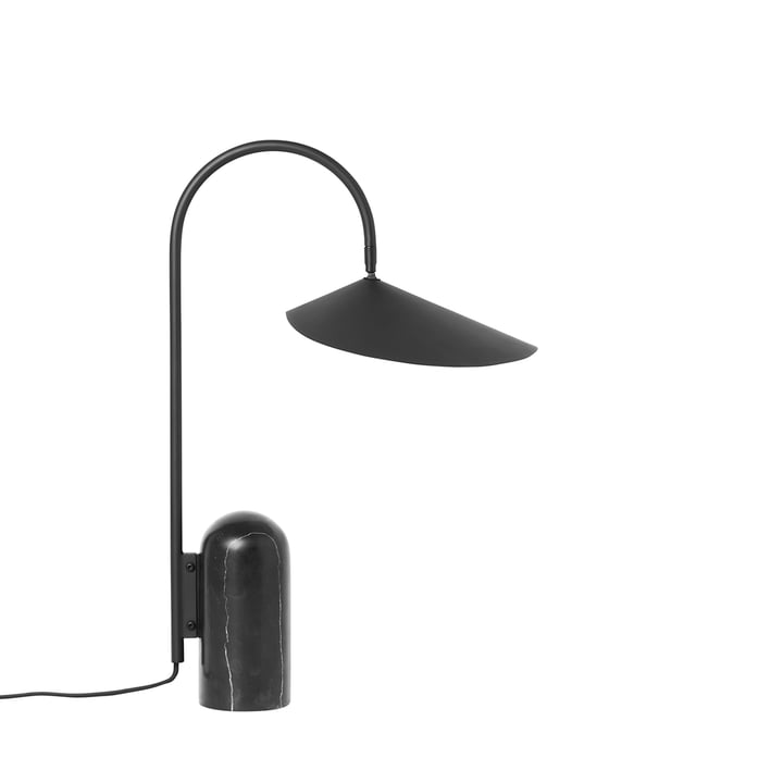 Arum lampe de table en noir par ferm Living