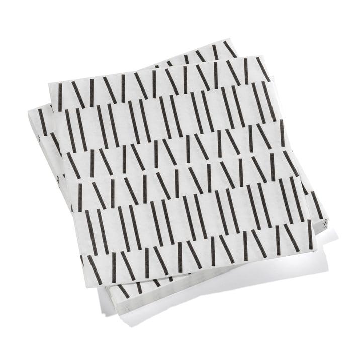 Serviettes de table en papier grandes lignes brisées par Vitra en noir
