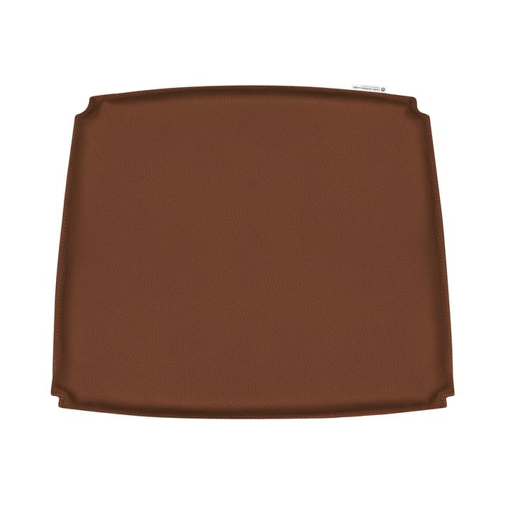 Coussin d'assise pour fauteuil CH26 de Carl Hansen en cuir brun (Loke 7748)