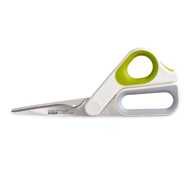 Ciseaux de cuisine Powergrip de Joseph Joseph en blanc / vert