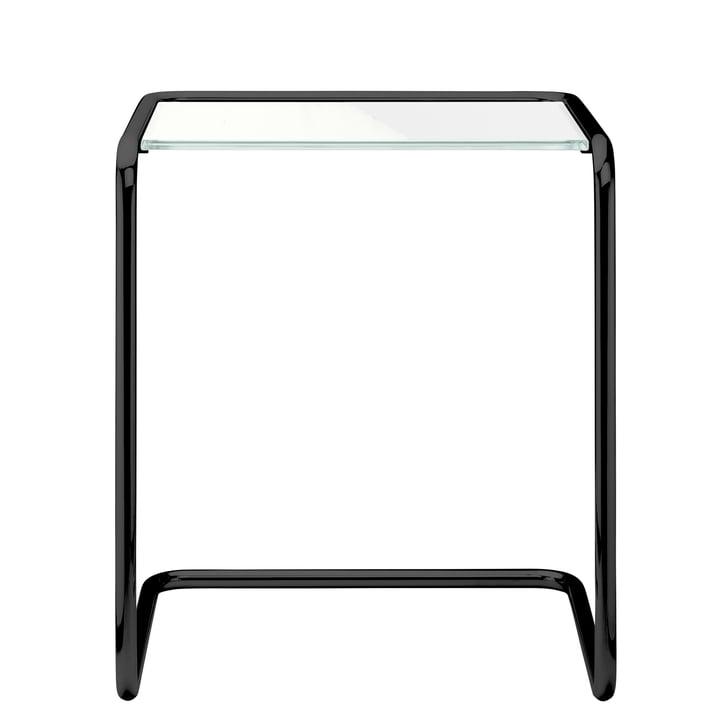 B 97 a Table d'appoint, 34,5 x 41,5 cm, châssis noir RAL 9005 / Verre (toutes saisons) Thonet