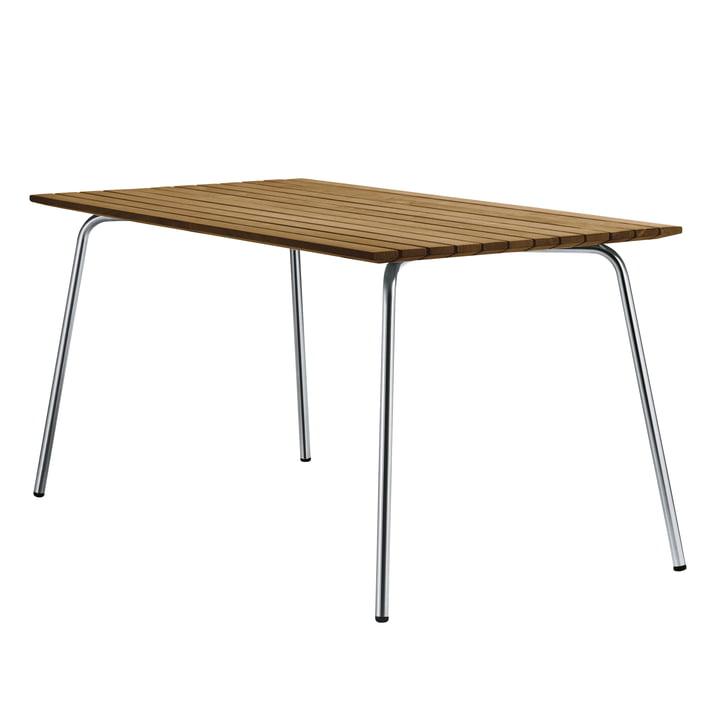 S 1040 table de jardin, 150 x 78 cm, cadre en acier inoxydable tube rond / plateau de table Iroko by Thonet