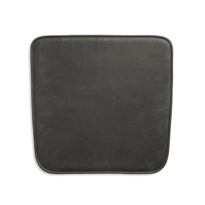 Coussin d'assise pour fauteuil Hven de Skagerak en noir anthracite (Cuir protégé)