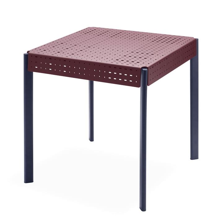 Table Gerda 74,5 x 74,5 cm de Skagerak dans rouge foncé / bleu foncé