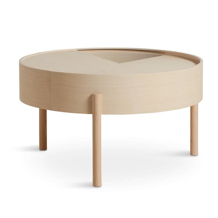 Arc Table basse Ø 66 cm H 38 cm de Woud en blanc cendré pigmenté