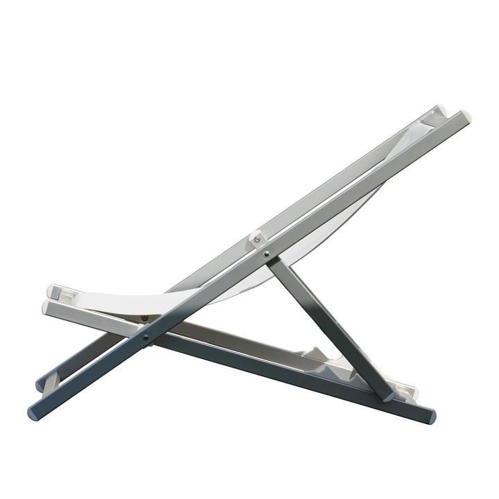 Chaise longue Rimini de Jan Kurtz en aluminium / blanc