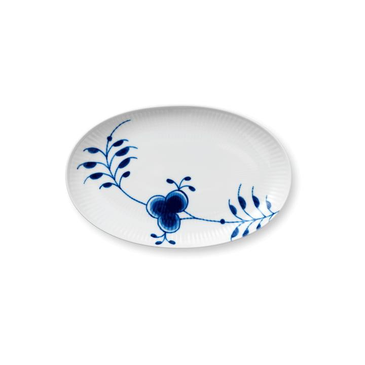 Assiette de service Mega Blue Ribbed ovale 23 cm de Royal Copenhagen