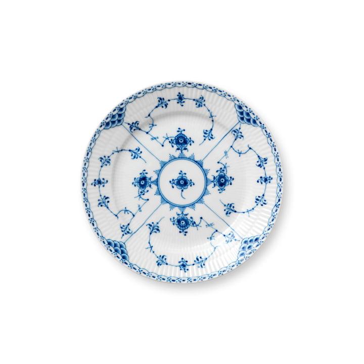 Demi-plaque à moules plate, Ø 19 cm en blanc / bleu par Royal Copenhagen