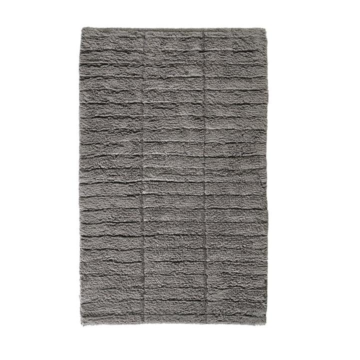 Tapis de salle de bain Soft Tiles, 80 x 50 cm en gris pierre par Zone Denmark